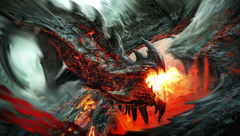 Дракон извергающий пламя · бесплатное фото
