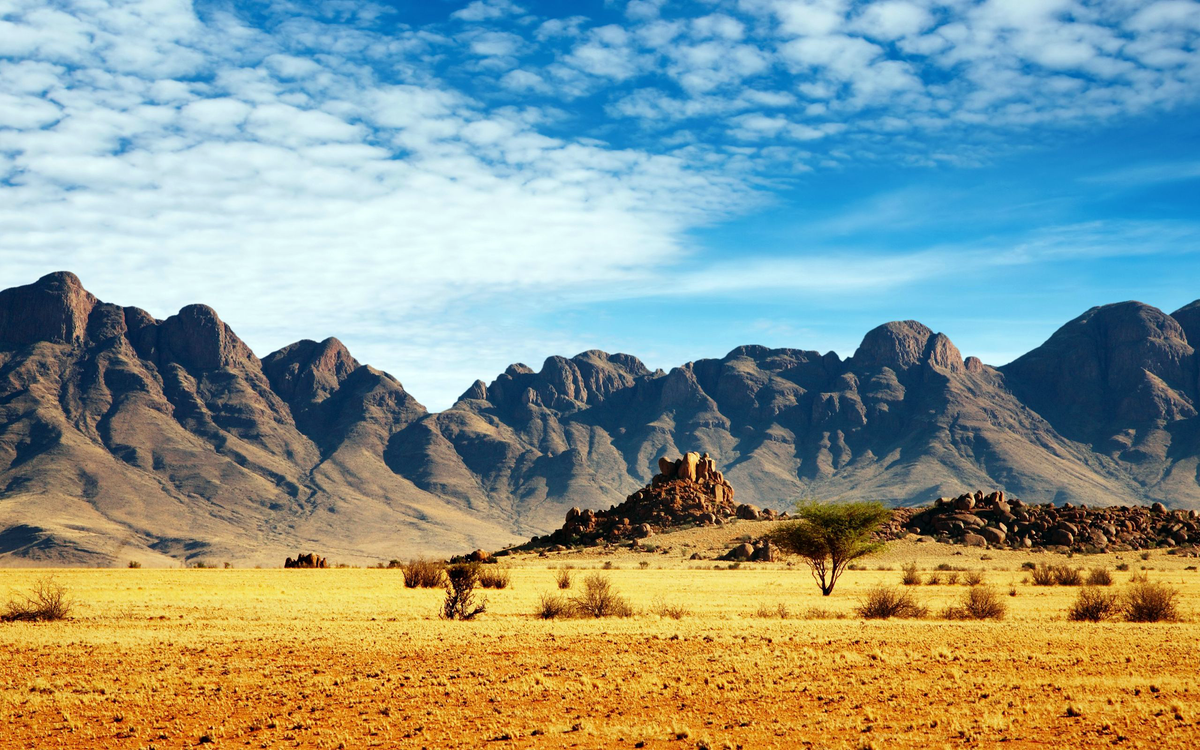 Free photo desert, sky, mountains - to desktop