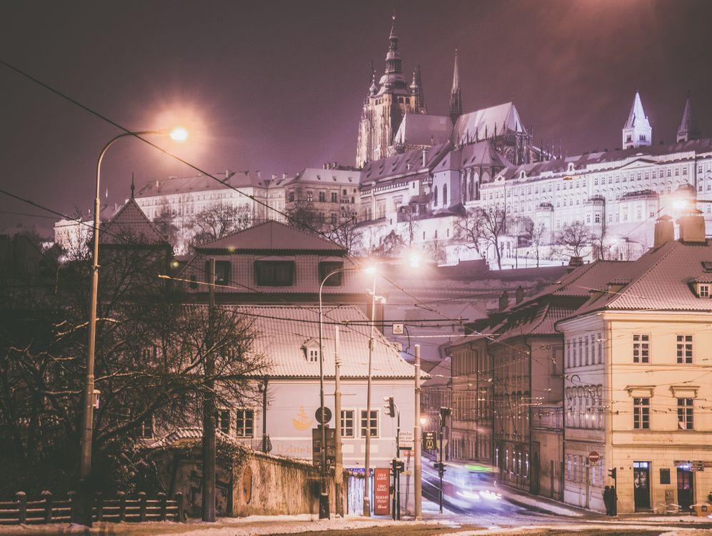 Фото бесплатно Зима в Праге, Чехия, город - на рабочий стол