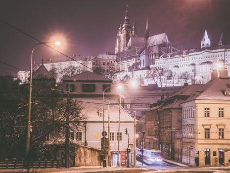 Заставки Зима в Праге, Чехия, город