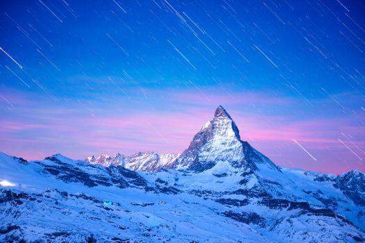 Photo free Matterhorn mountain, Switzerland, Italy