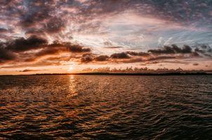 Заставки небо,горизонт,воды,море,закат солнца,размышления,облако