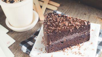 Фото бесплатно пирожное, шоколад, крем