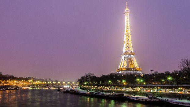 Фото бесплатно сумерки, ночь, город