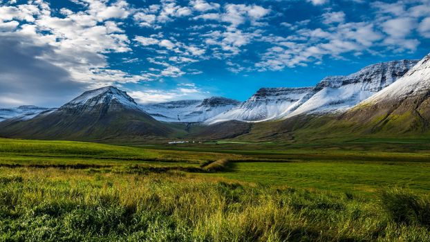 Photo free Iceland, mountains, field