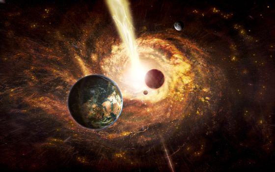 Бесплатные фото черная дыра,вспышка,излучение,космос,вселенная,планеты,звёзды,созвездия,свечение,невесомость,вакуум,галактика