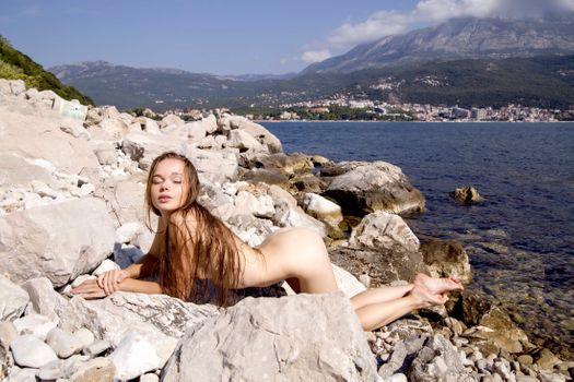 Фото бесплатно Milena Angel, Милена Д, milenna, Сунна, Вероника в, модель, красивая, блондинка, закрытые глаза, мокрые волосы, обнаженная, попка