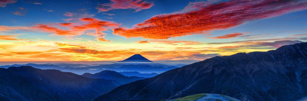 Заставки Гора Фудзи, Горы, Природа