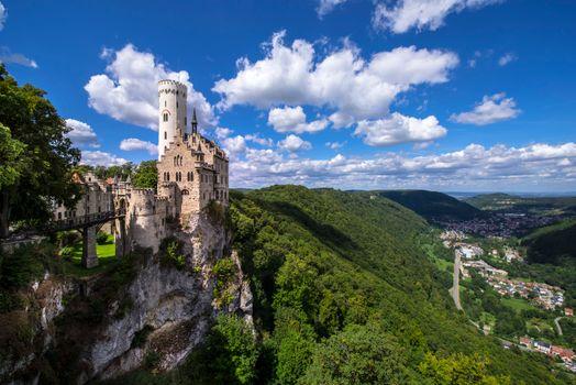 Бесплатные фото замок,холмы,castle Lichtenstein,Germany