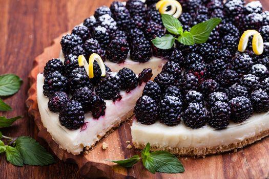 Blackberry pie · free photo