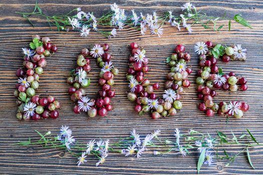Бесплатные фото любовь,ягоды,крыжовник,дерево,текстура,слово,выражение,арендная плата