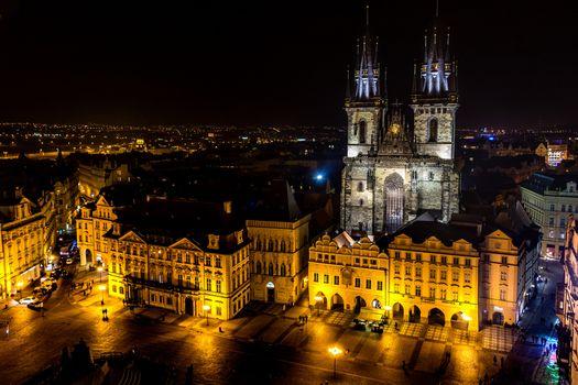 Фото бесплатно Прага, освещение, городская площадь