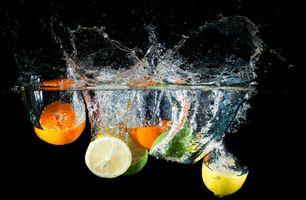 Заставки известь, вода, апельсин