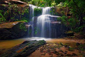 Бесплатные фото Малайзия,водопад,лес,скалы,деревья,поток,вода