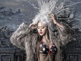 Photo free asian models, beautiful make-up, mood