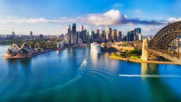 Фото бесплатно Северный Сидней, Сидней Харбор мост, мост Харбор