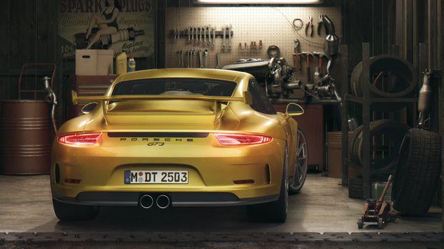 Фото бесплатно Porsche GT3, Porsche, машины