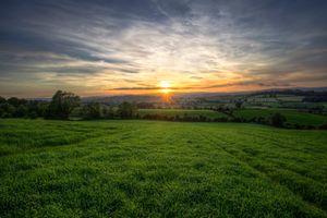 Фото бесплатно Баллиндрайт, Лиффорд, графство Донегал, Ирландия, поле, закат, небо, трава, пейзаж
