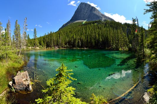 Фото бесплатно Grassi Lake, Ling Peak, Грасси озеро