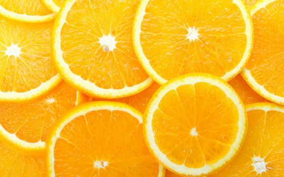 Photo free orange, slices, food