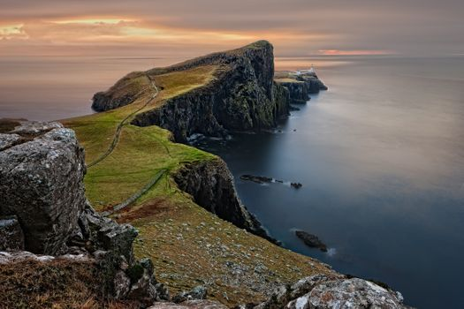 Заставки шотландия,великобритания,англия,скай,neist точка,море,нагорья и островов,природа,пейзаж,европа,скалы,воды