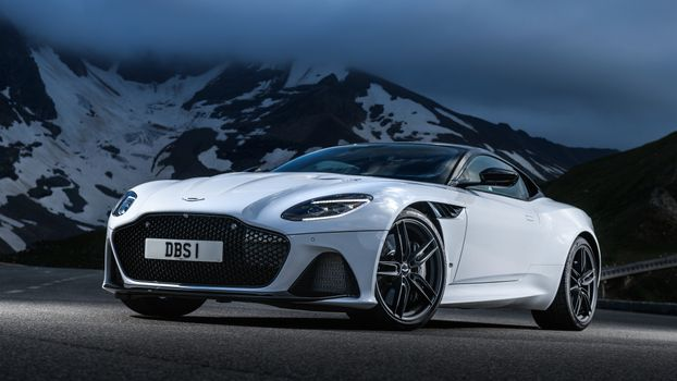 Photo free aston martin dbs superleggera, supercars, white