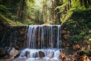 Бесплатные фото водопад,камни,речка,лес,деревья,природа,пейзаж