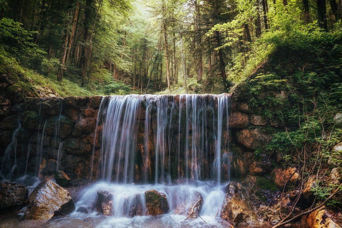 Фото бесплатно водопад, камни, речка - на рабочий стол