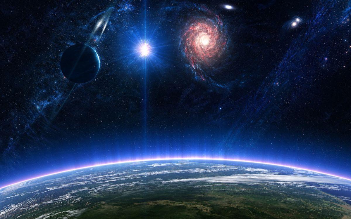 Фото бесплатно атмосфера, галактика, Туманность, планета, планеты, космос, звезды, созвездия, космос