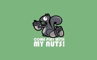 Фото бесплатно фон, смешно, зеленый, минималистичный, орехи, котировки, простые, белки, текст