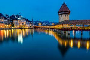 Photo free Lucerne, night, night cities