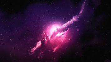 Заставки Туманность, Атлантида, галактика, космос, звезды, вселенная, Spacescapes