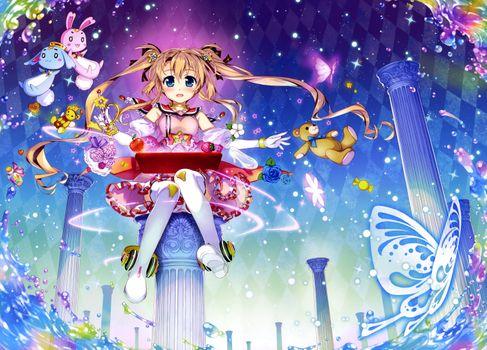 Фото бесплатно аниме, девочка, twintails