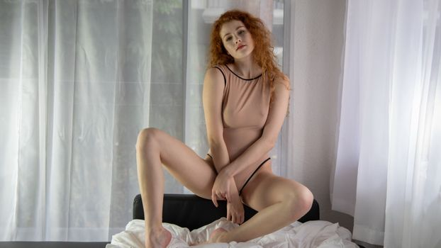 Фото бесплатно Хейди Романова, рыжий, видеть сквозь сексуальный