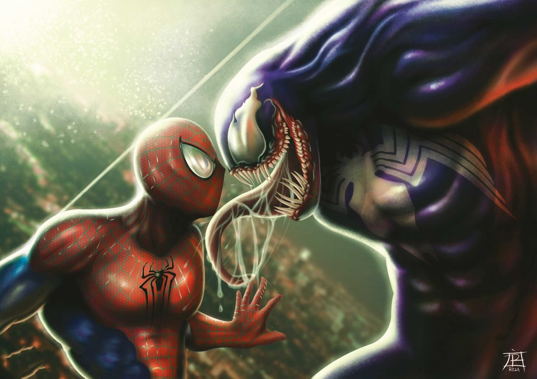 Фото бесплатно Venom, Spiderman, работа - на рабочий стол