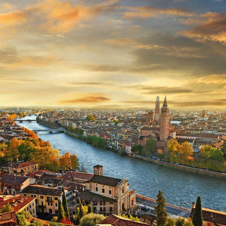 Фото бесплатно Vintage City-Italy, Италия, Флоренция, закат, город
