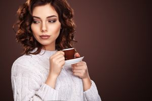 Photo free look, makeup, coffee