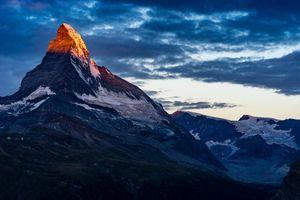 Бесплатные фото синее,небо,облака,закат,вдохновлять,восход,горы