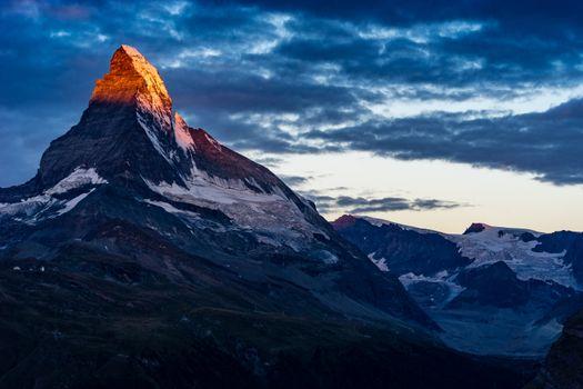 Бесплатные фото синее,небо,облака,закат,вдохновлять,восход,горы,Суннегга,поход,туризм,снег,швейцария