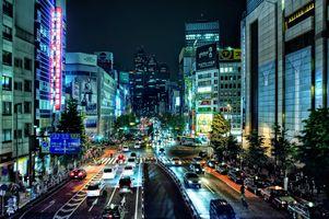 Заставки Shinjuku,Токио,Япония,город,ночь,улица,дома