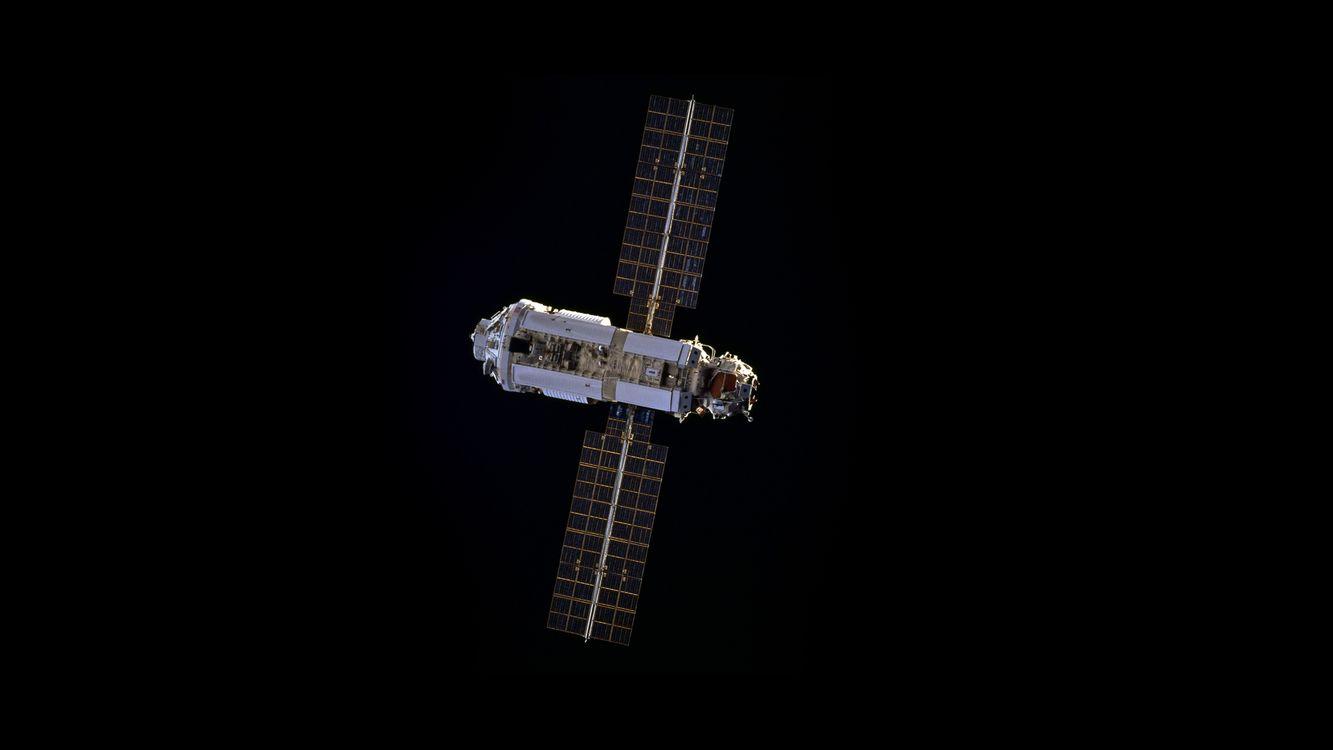 Фото бесплатно МКС, Международная космическая станция, Космос, минимализм, космос - скачать на рабочий стол