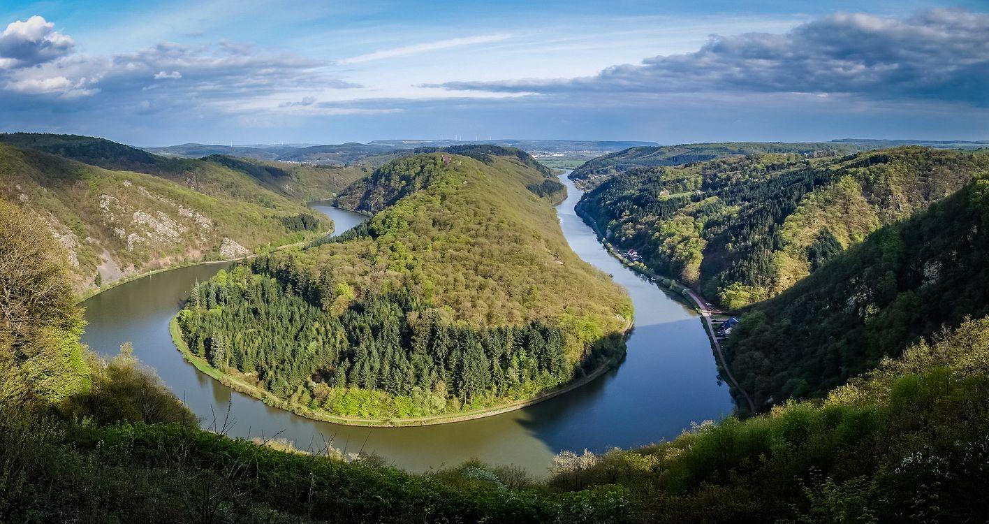 Излучина реки Саар - река Саар · бесплатное фото
