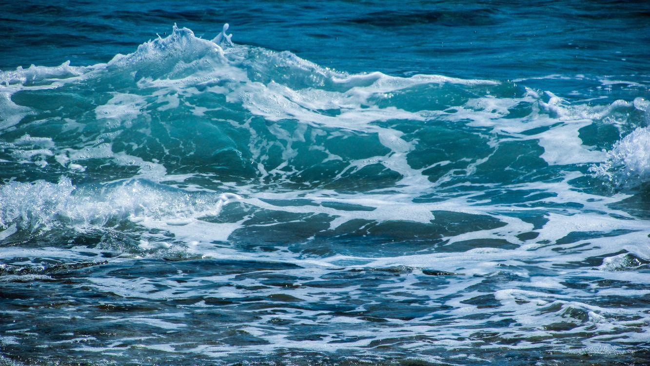 Фото бесплатно океан, волны, водные пузыри - на рабочий стол