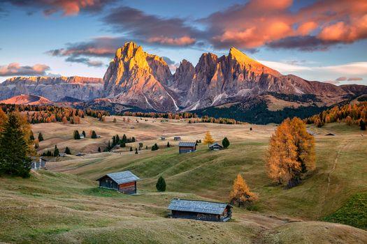 Бесплатные фото Сейзер Альм,Доломиты,Южный Тироль,Италия,Seiser Alm,Dolomites,South Tyrol,Italy