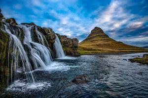 Фото бесплатно скалы, Kirkjufell, пейзхаж
