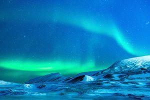 Бесплатные фото океан,снег,ночь,атмосфера,ледник,арктический,северное сияние