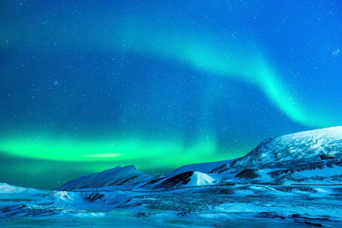 Фото бесплатно океан, снег, ночь - на рабочий стол