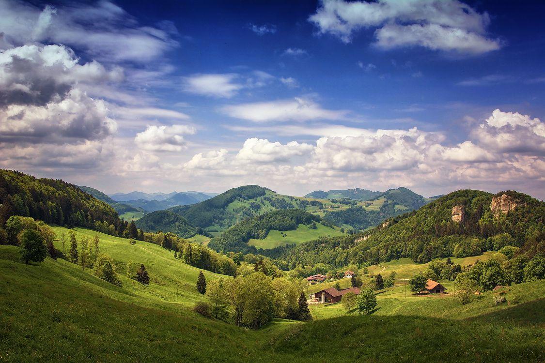 Фото бесплатно Schweizer Belchen, Швейцария, горы - на рабочий стол