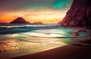 Photo free rocks, beach, coast