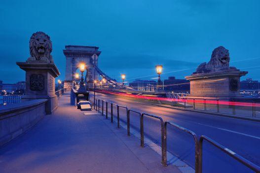 Фото бесплатно Цепной мост, закат, Венгрия